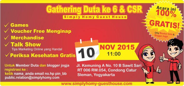 Gathering Duta ke 6 dan CSR Simply Homy