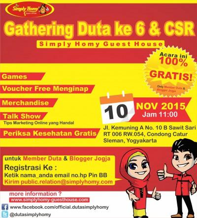 gathering dan csr simply homy